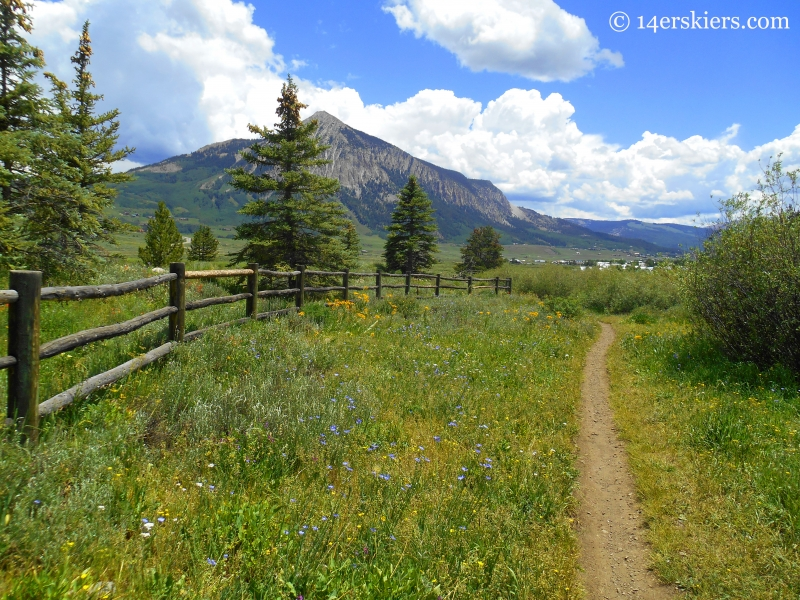 Lower Loop trail near Crested Butte