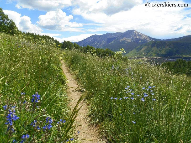 Westside trail at Crested Butte Mountain Resort