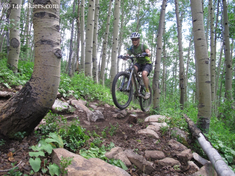 Mountain biking Westside at Crested Butte