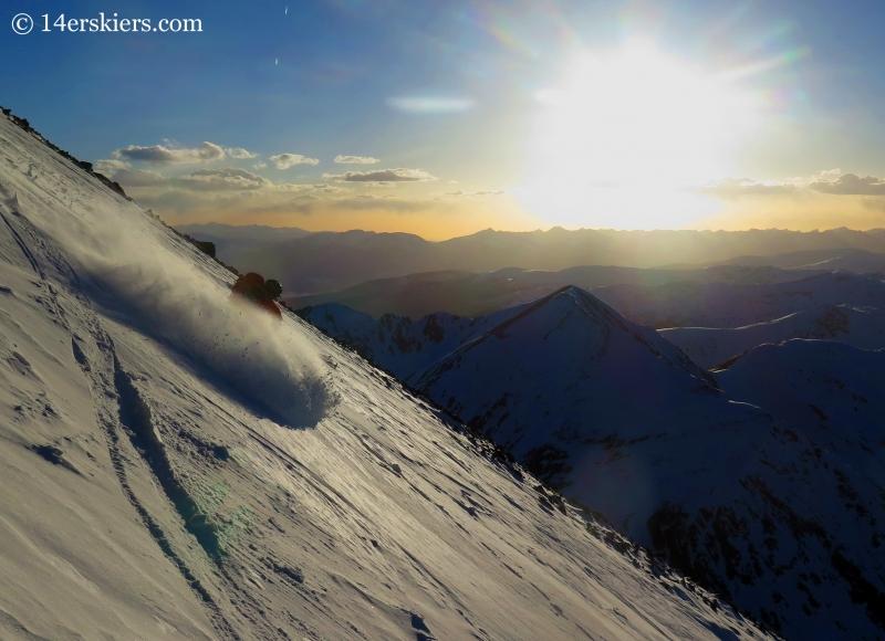 Gary Fondl skiing Torreys Peak