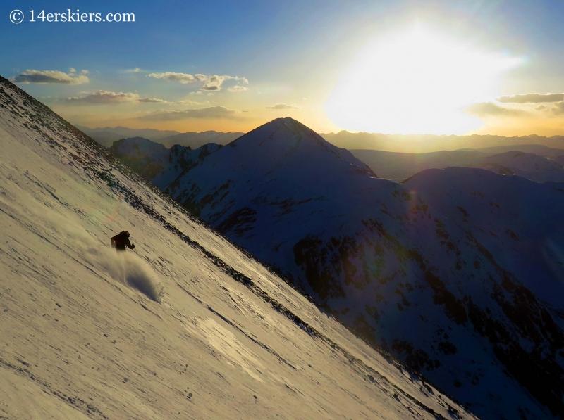 Frank Konsella skiing 14er