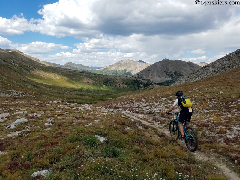 mountain biking towards tincup pass