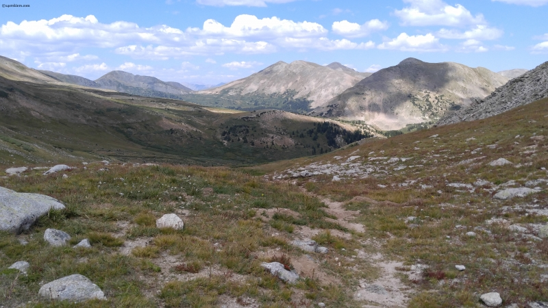 Tincup Pass from Continental Divide trail