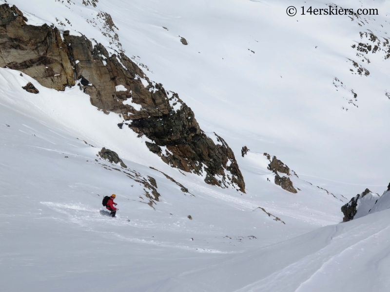 Matt Kamper backcountry skiing on Mount Tweto