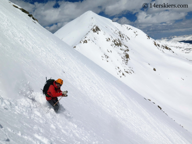 Matt Kamper backcountry skiing on Mount Tweto.