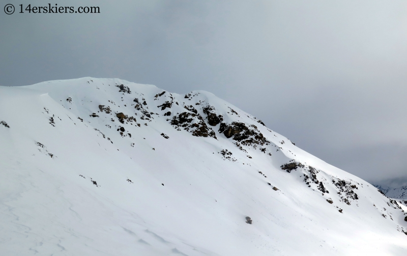 Backcountry skiing on the east face of Twining Peak.