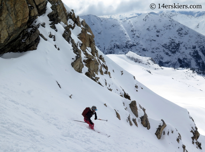 Jenny Veilleux backcountry skiing on Twining Peak.