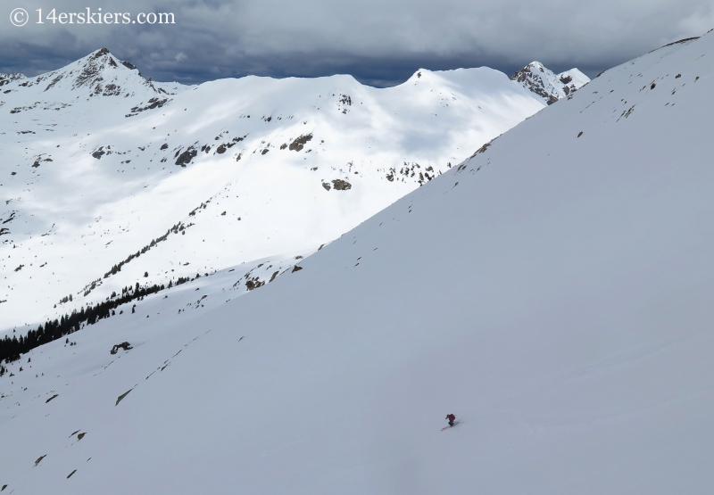 Keith backcountry skiing on Point 13,736'