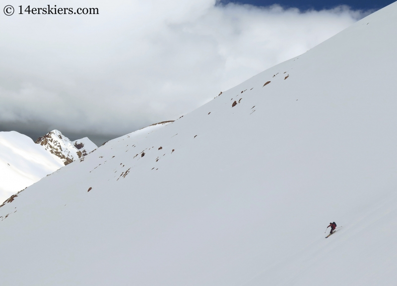 Jordan White backcountry skiing on Point 13736.