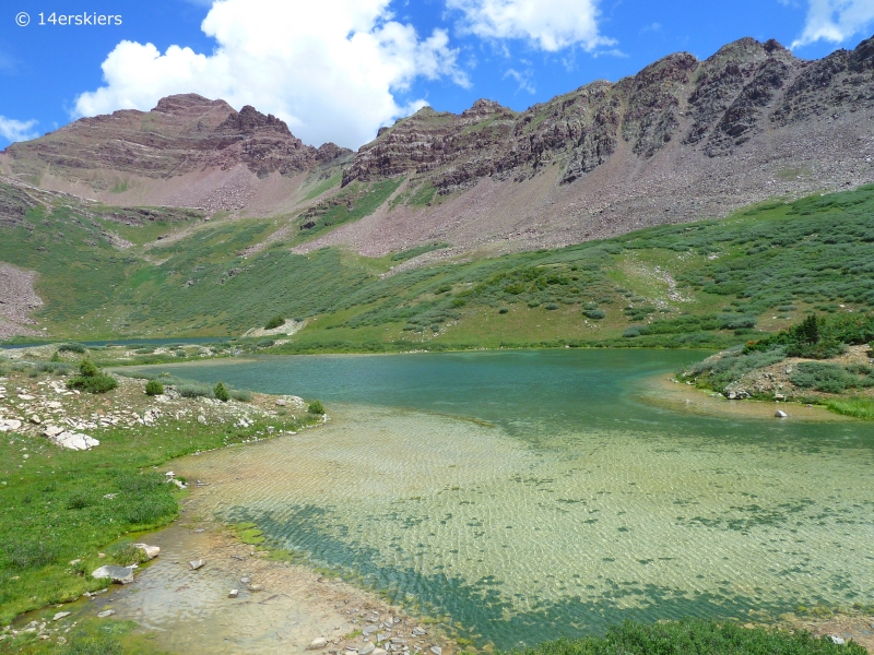 Hike to Twin Lakes near Crested Butte