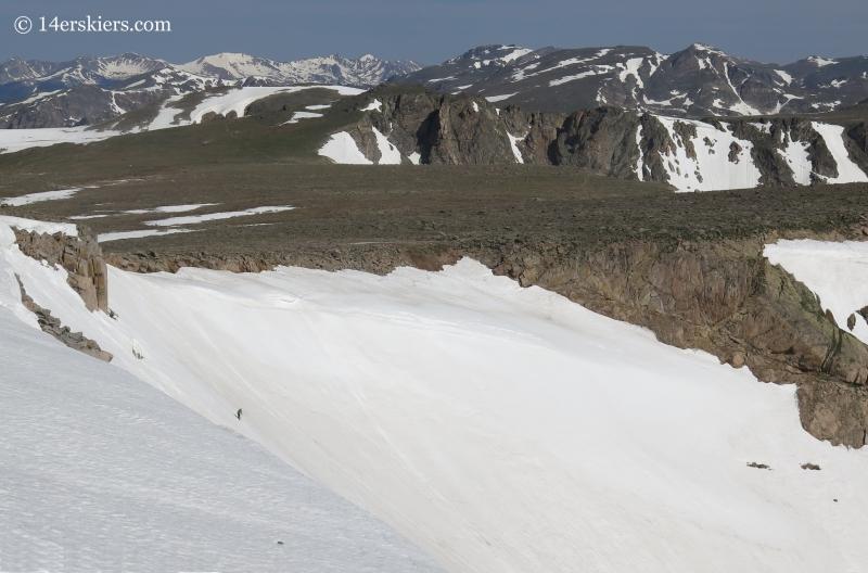 Scott Edlin backcountry skiing on Tyndall Glacier