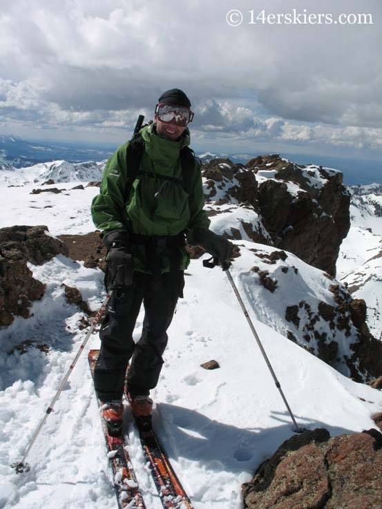 Frank Konsella ready to backcountry ski on Uncompahgre Peak.