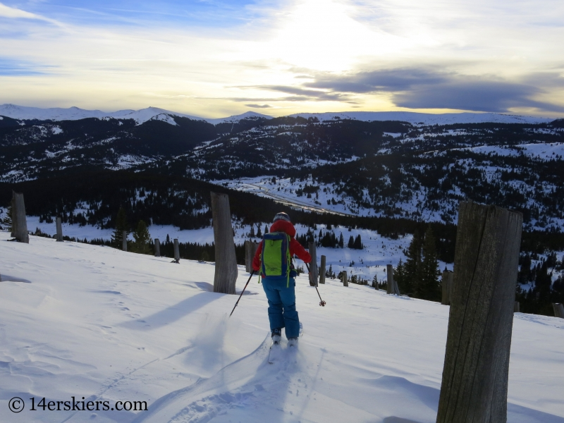 Backcountry skiing on Uneva Peak.