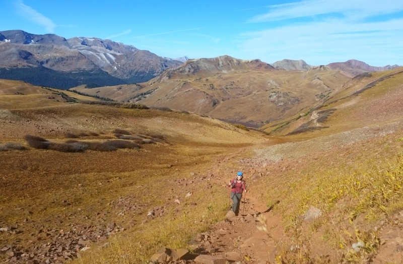 Hiking to West Maroon Pass.