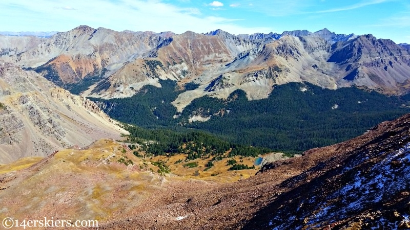 Views from summit of Unnamed 13,130'