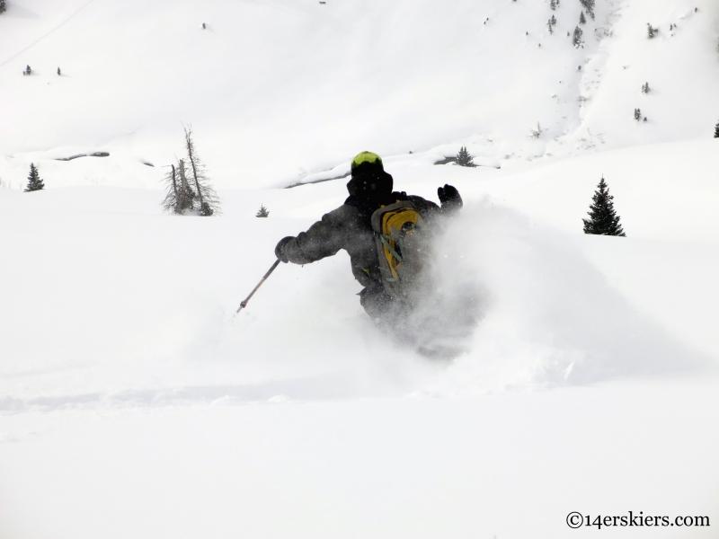 ben morello skiing crested butte backcountry