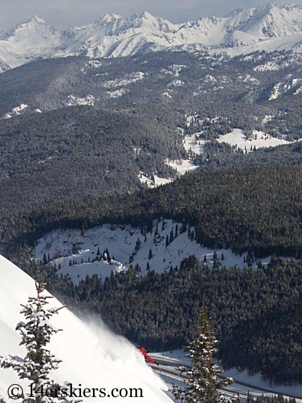 Dave Bourassa backcountry skiing on Vail Pass.