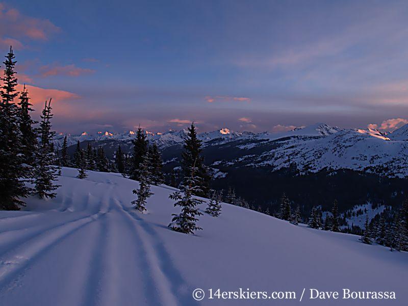 Sunrise on Vail Pass