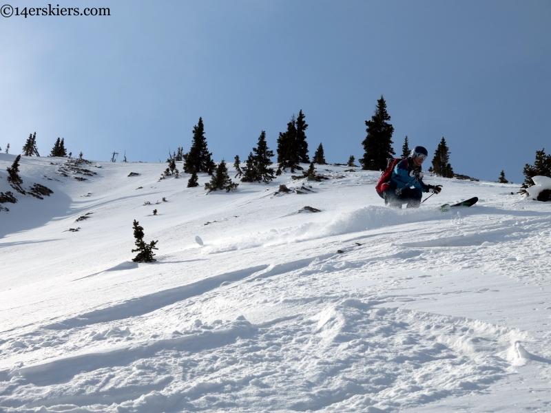 Skiing the Wang Chung face