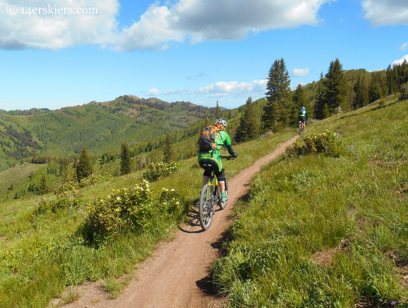 riding on the Wasatch Crest Trail