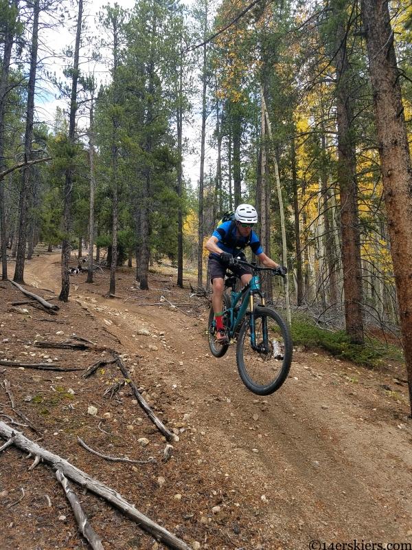 Mountain biking Wuanita Trail near Whitepine, CO