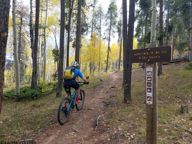 quakey mountain trail mountain biking