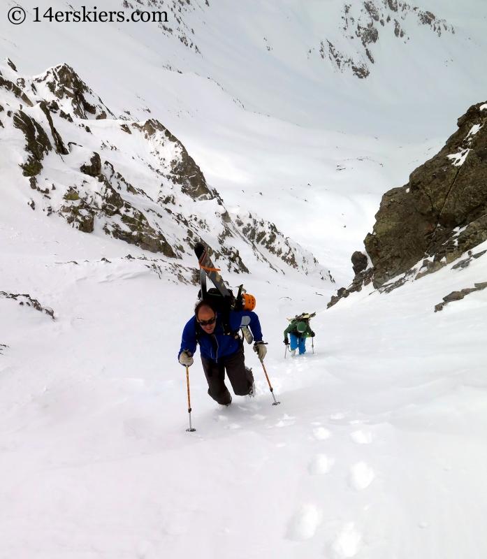 Matt Kamper and Natalie Moran climbing Atlantic Peak.