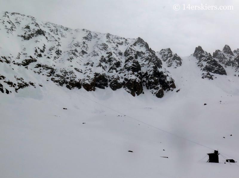 Ski lines on the west side of Atlantic Peak.