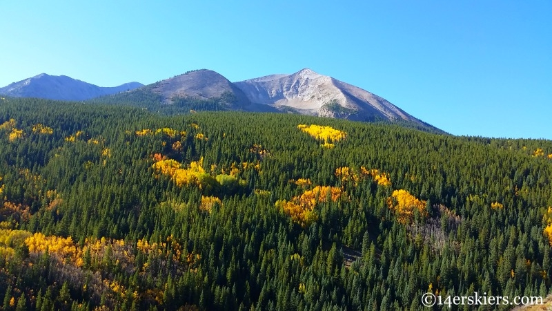 Whetstone Mountain in the fall.