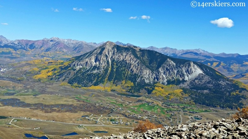 Mount Crested Butte in the fall.