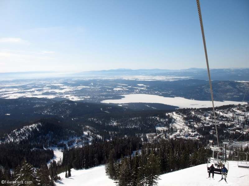 Skiing at Whitefish, Montana.