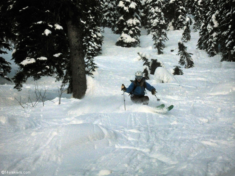 Skiing at Whitefish, Montana