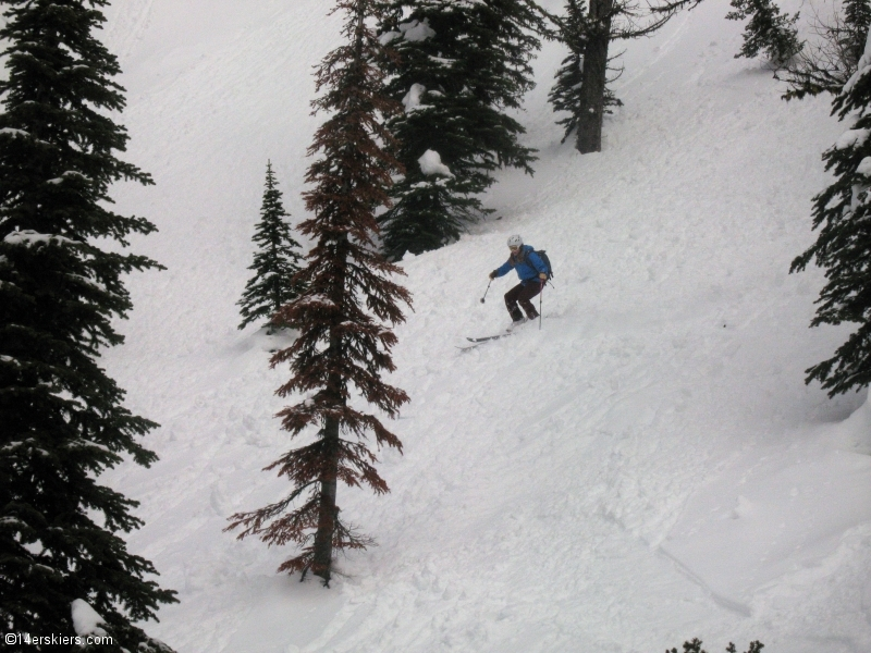 Backcountry skiing at Whitewater, British Columbia