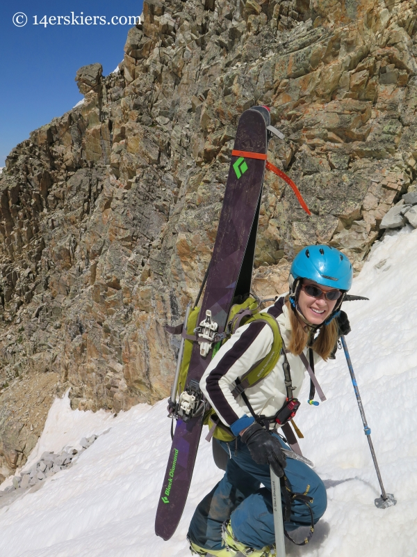 Brittany Konsella climbing White Widow Couloir