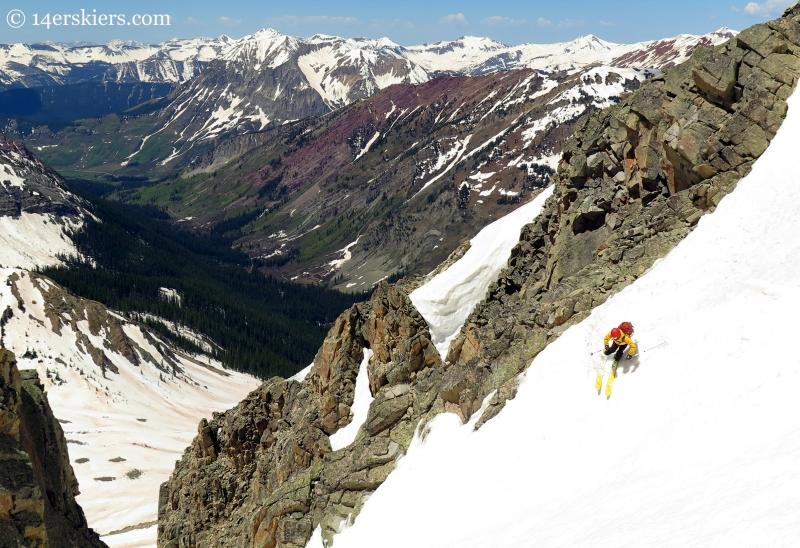Ben McShan skiing White Widow Couloir