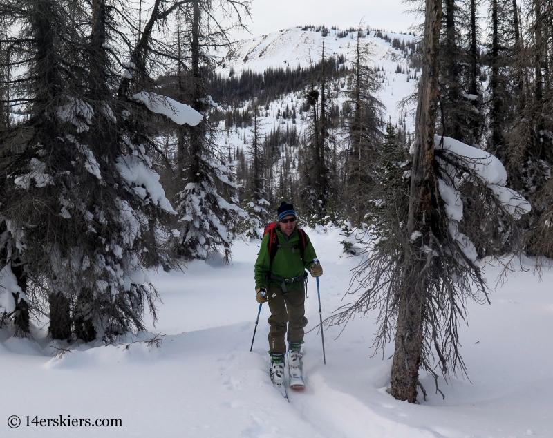 Frank Konsella backcountry skiing on Wolf Creek Pass