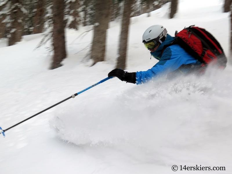 Frank Konsella backcountry skiing on Wolf Creek Pass.