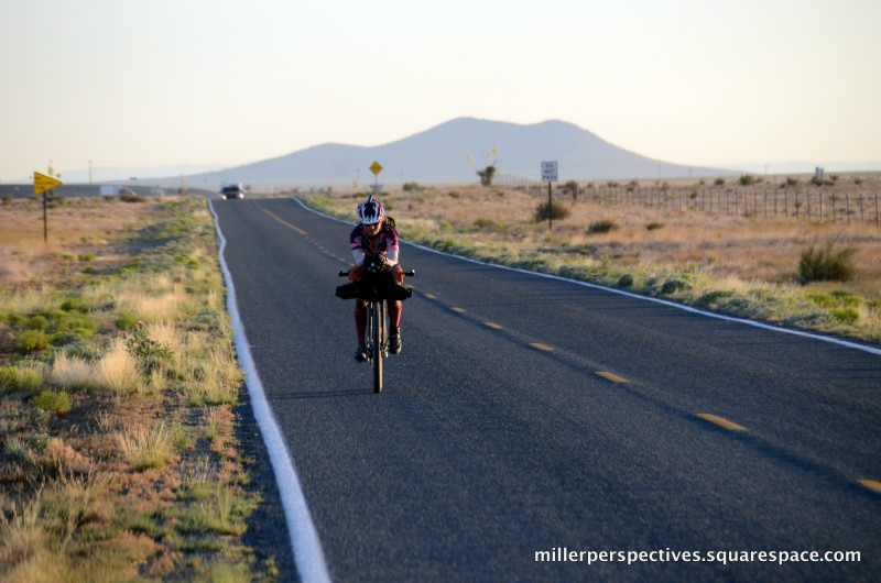 Eszter Horanyi in the Great Divide Race, photo courtesy of Chris Miller