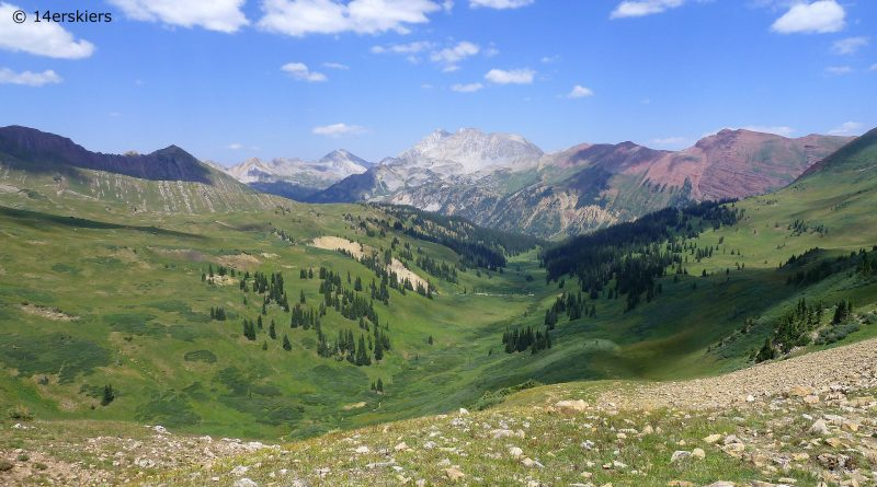 Hiking to Hasley Pass near Crested Butte, CO
