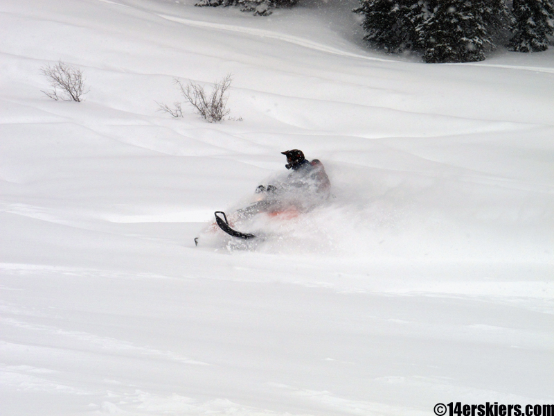 crested butte snowmobiling near irwin