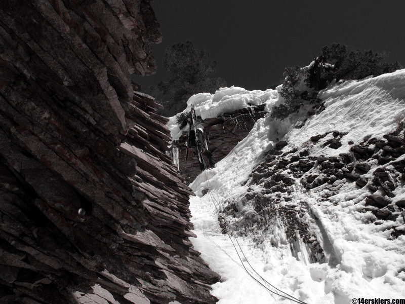 rapping the skyland couloir