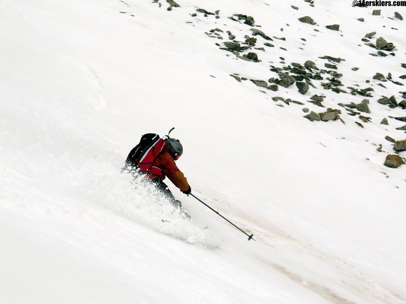 frank konsella skiing italian mountain