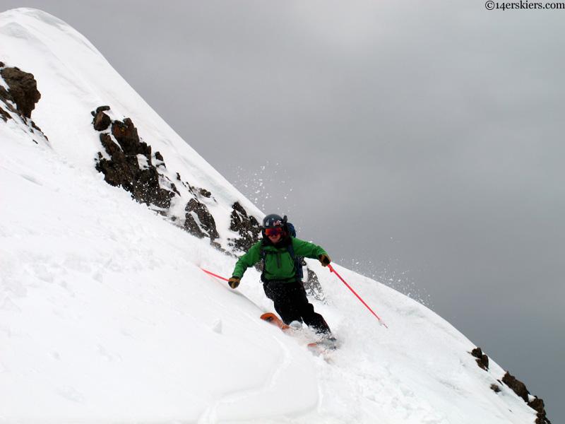 alex reidman skiing crested butte