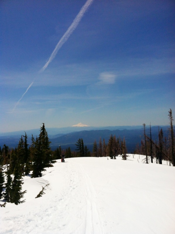 Great views of Mount Hood to the South!