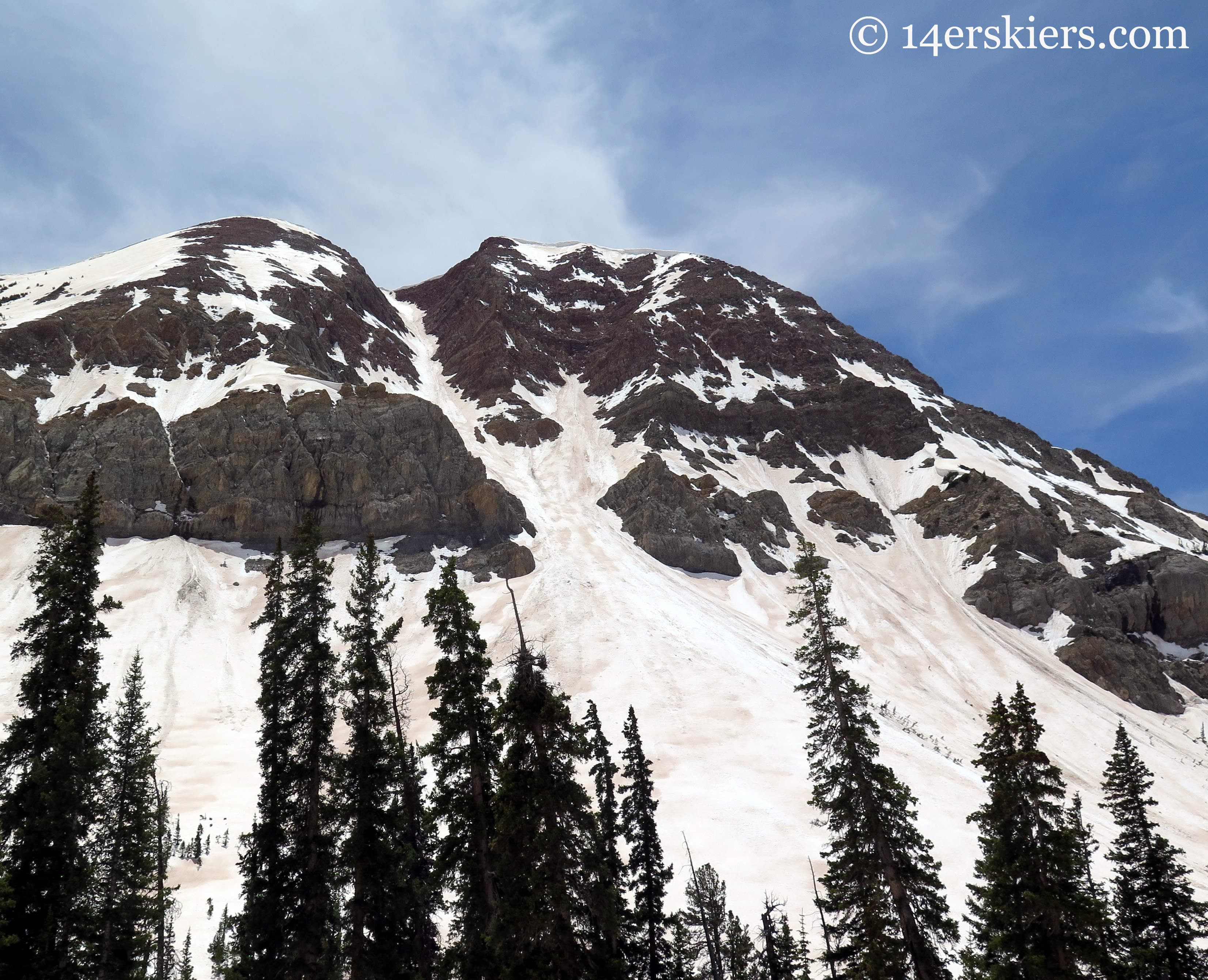 El Natcho rising from Queen Basin, near Crested Butte