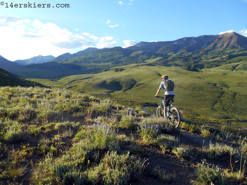 Riding Meander at Crested Butte Mountain Resort
