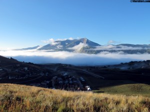 morning fog in Crested Butte, CO