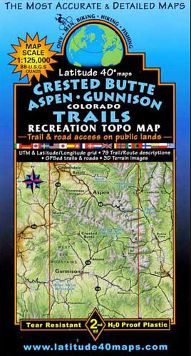 Latitude 40 Crested Butte / Aspen / Gunnison Map