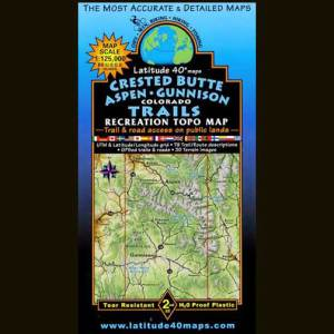 Latitude 40 Map - Crested Butte / Aspen / Gunnison