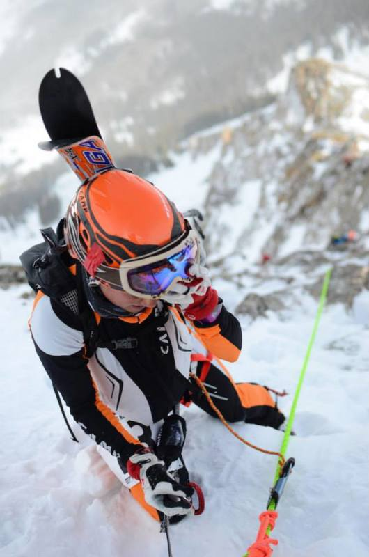 Stevie Kremer at the US Ski Mountaineering Association National Championships in Crested Butte, March, 2014.